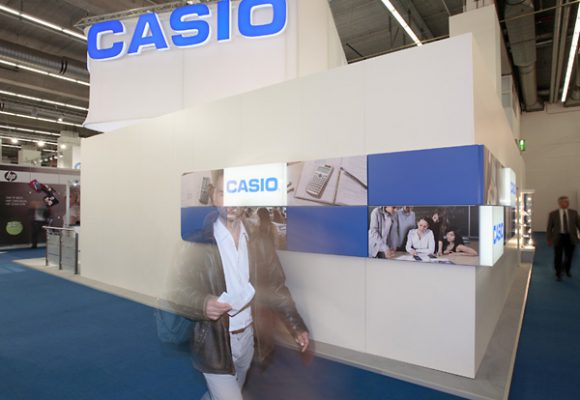 Messestand für Casio