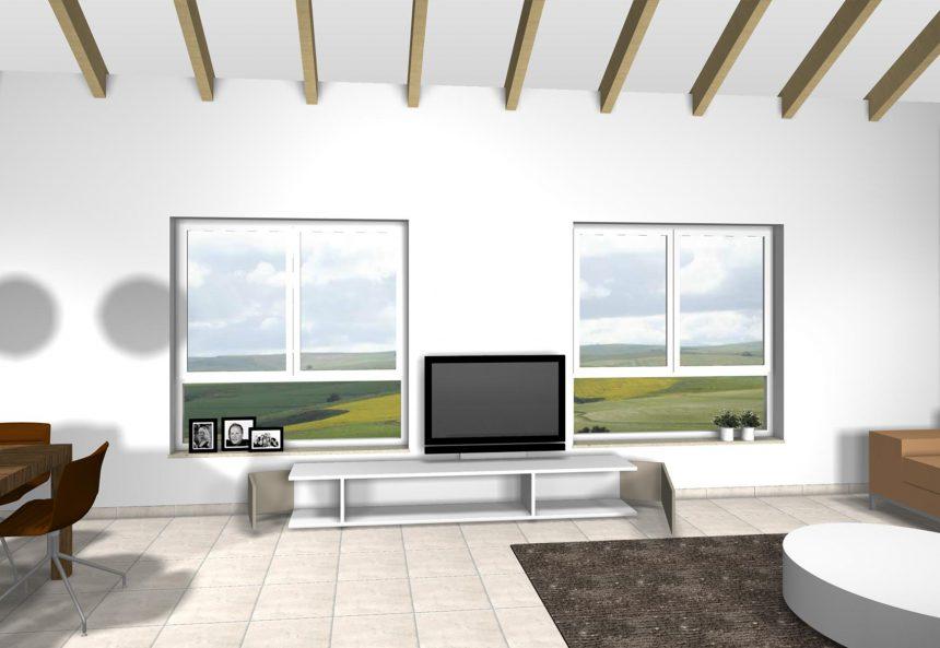 Entwurf eines TV-Möbels