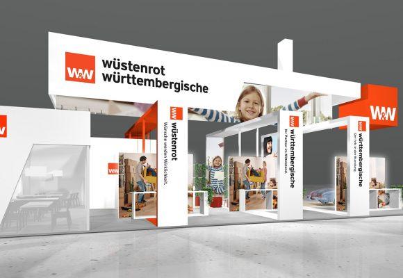 Messekonzept für Wüstenrot & Württembergische Gruppe