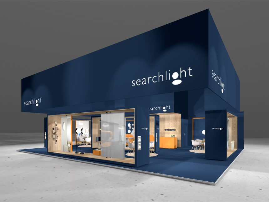Messekonzept für Searchlight Electric