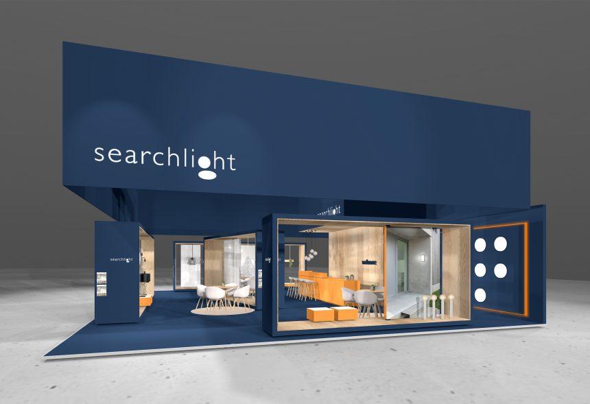 Messekonzept für Searchlight Electric